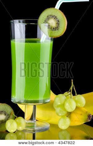 Juice And Fresh Fruits - Organic, Health Drinks Series
