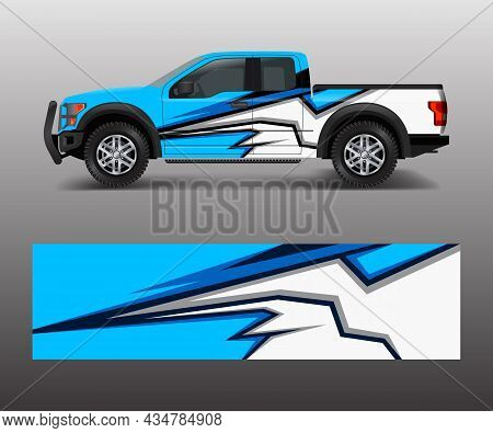 Offroad Vehicle Wrap Design Vector. Pickup Truck Decal Wrap Design Vector.