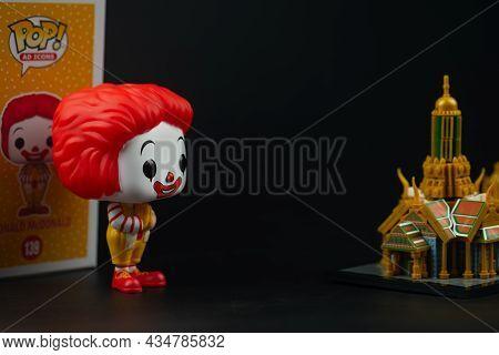 Bangkok, Thailand - September 20, 2021 : The Limited Edition Of Funko Pop Icons Mcdonald's Ronald Mc