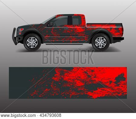 Abstract Modern Graphic Design For Truck And Vehicle Wrap And Branding Stickers