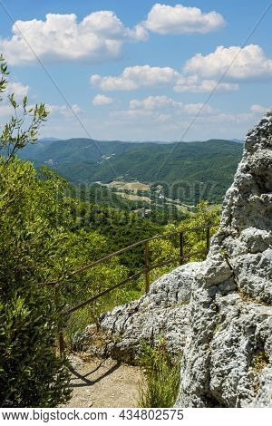 View Of Appennines From Sacred Wood Of Monteluco, Spoleto, Umbria, Italy