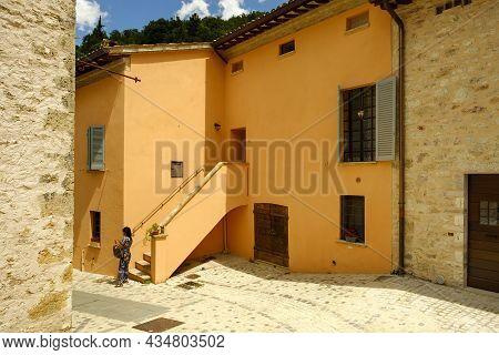 The Village Of Rasiglia, Also Called The Venice Of Umbria, Foligno, Umbria, Italy