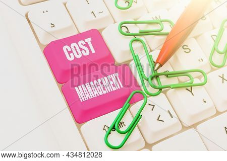 Text Showing Inspiration Cost Management. Concept Meaning Process Of Planning And Controlling The Bu