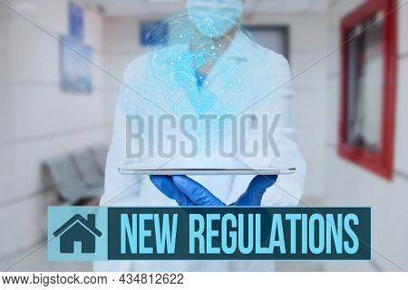 Conceptual Caption New Regulations. Business Approach Regulation Controlling The Activity Usually Us