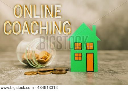 Conceptual Caption Online Coaching. Business Concept Learning From Online And Internet With The Help