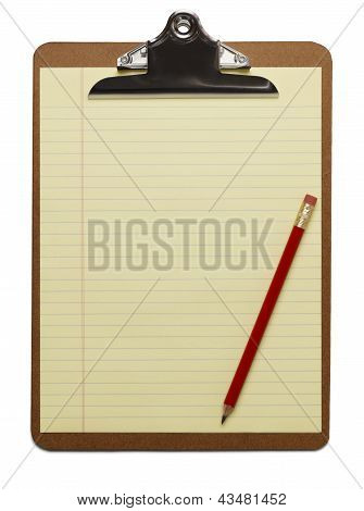 Blank Clipboard With Pencil