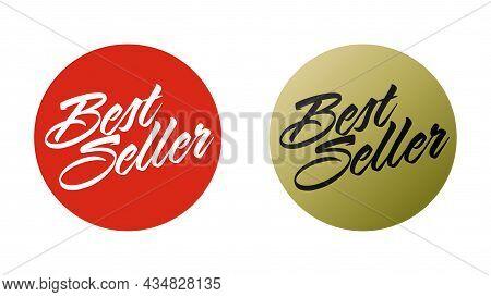 Best Seller Stamp Or Round Label For Product Packaging Set. Marketing Bestseller Badge Template For