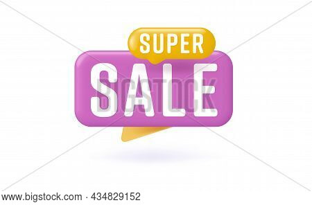 Super Sale Sticker For Cheap Online Shopping Promotion. Discount Badge Or Special Offer On Cyber Mon