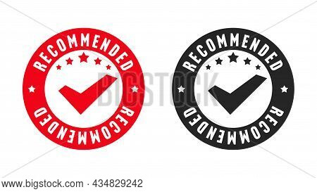 Recommended Stamp Original Quality Certification Design Set. Commercial Stencil Sticker Guarantee Be