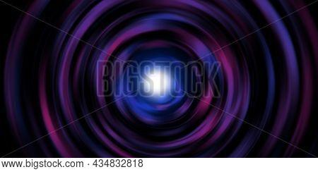 Circular Light Line Rotating Laser Light Burst Laser Light Spiral 3d Illustration