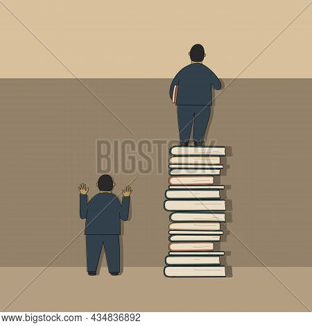Book Is Source Of Knowledge And Give Better Perspective.comparison Of Two Men:well-read Stand High O