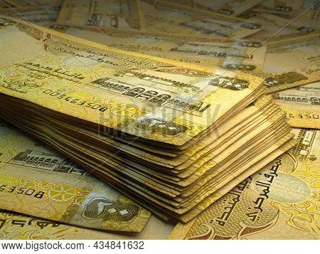 Money Of United Arab Emirates. United Arab Emirates Dirham Bills. Aed Banknotes. 200 Dirhams. Busine