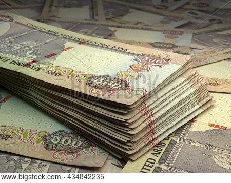 Money Of United Arab Emirates. United Arab Emirates Dirham Bills. Aed Banknotes. 500 Dirhams. Busine