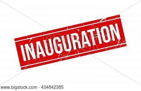 Inauguration Rubber Stamp. Inauguration Grunge Stamp Seal Vector Illustration