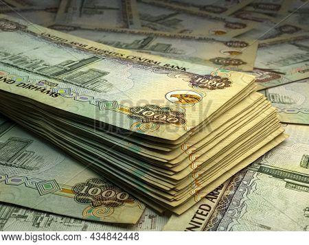 Money Of United Arab Emirates. United Arab Emirates Dirham Bills. Aed Banknotes. 1000 Dirhams. Busin