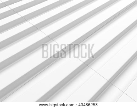 White Industrial Background With Bars.