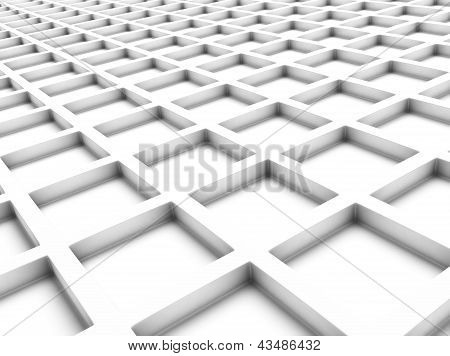 White Background With Squares