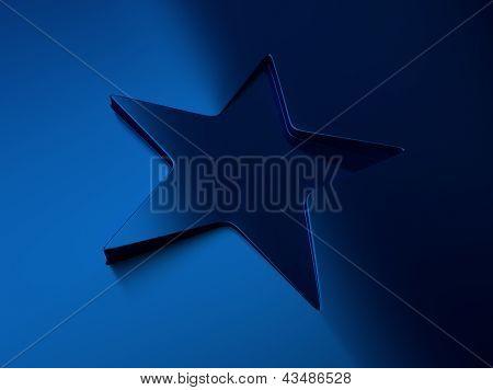 Blue Metallic Star Background