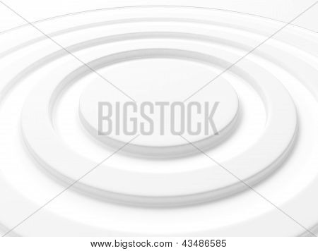 Elegant White Background Circle