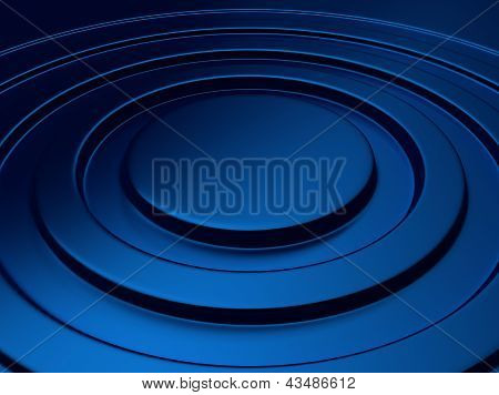 Blue Metallic Background Circle
