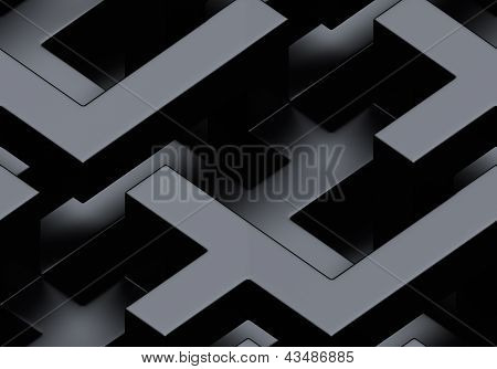 Seamless Metallic 3D Background