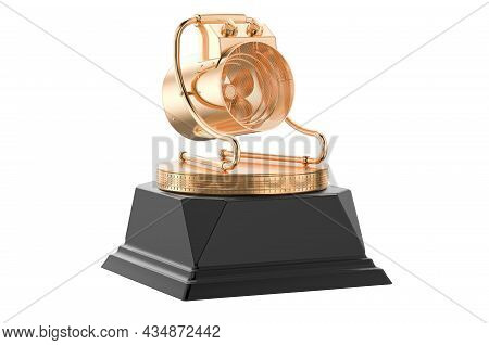 Blower Heater Golden Award Concept. 3d Rendering Isolated On White Background