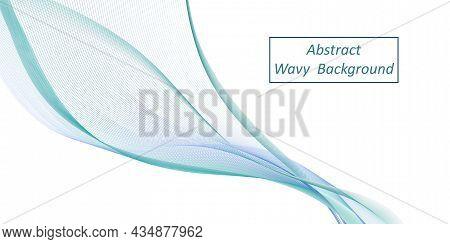 Wave Background. Air Wind Wave Swirl Swoosh. Flowing Veil Texture. Vapor Smoke Dynamic, Sea Water Te