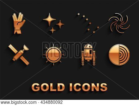 Set Sun, Black Hole, Earth Structure, Robot, Satellite, Great Bear Constellation, Vulcan Salute And