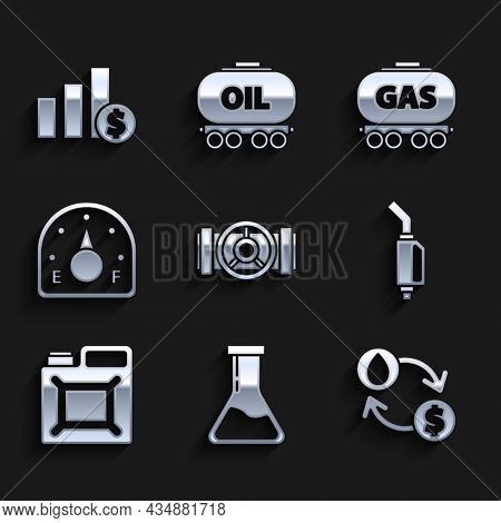 Set Industry Metallic Pipes And Valve, Oil Exchange, Water Transfer, Convert, Gasoline Pump Nozzle,
