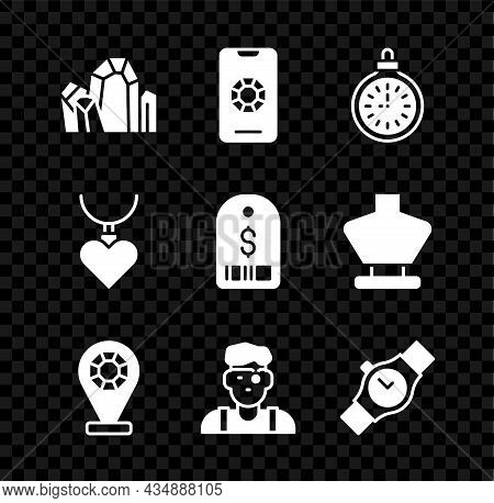Set Gem Stone, Jewelry Online Shopping, Pocket Watch, Store, Jeweler Man, Wrist, Necklace With Heart