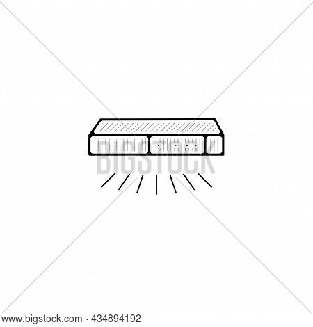 Smart Switch Vector Thin Line Icon. Smart Switch Hand Drawn Thin Line Icon.