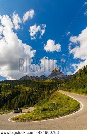 Landscape near Passo Giau in Dolomites, Italy