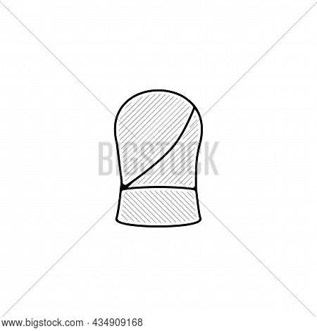 Car Seat Vector Thin Line Icon. Car Seat Hand Drawn Thin Line Icon.