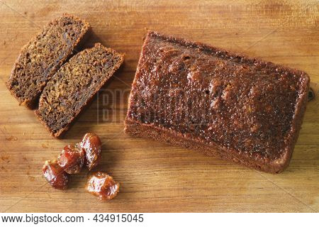 Dates Cake. A Simple Coffee Time Cake With Ground Dates Added To The Batter