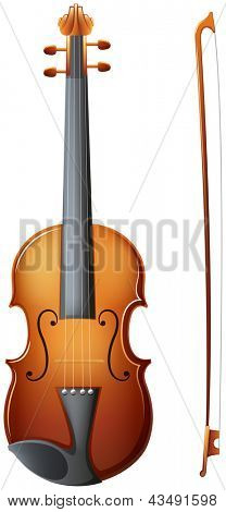 Illustration of a violin on a white background