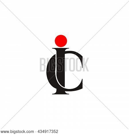 Letter Ic Simple Overlapping Fonts Colorful Logo Vector