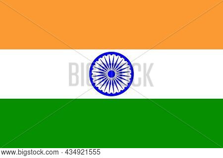 The National Flag Of India A Country In South Asia