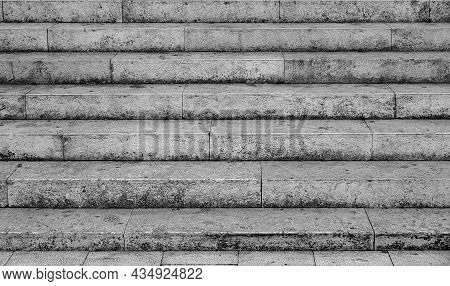 Stone Steps. Concrete Or Stone Staircase Close Up.