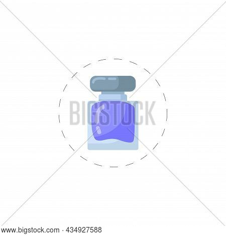 Perfume Clipart. Perfume Colorful Flat Vector Icon.