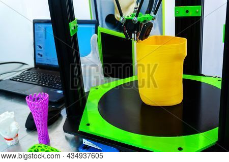 Printing Parts For A Prosthetic Leg Using A 3d Printer. Production Of Artificial Limbs In A Technica