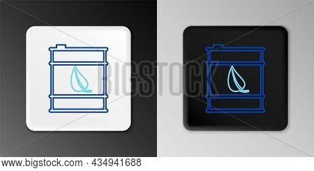Line Bio Fuel Barrel Line Icon Isolated On Grey Background. Eco Bio And Canister. Green Environment