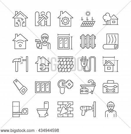 Home Renovation Icons. Construction, Housing Improvement, Repair. Sink Repair, Plumbing, Plumber, Bu