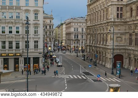 30 May 2019 Vienna, Austria - The Vienna State Opera House (wiener Staatsoper). The Facades Are Deco