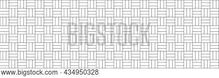 Vector Seamless Black And White Tiles.black White Gray Mosaic Kitchen Backsplash Tile.