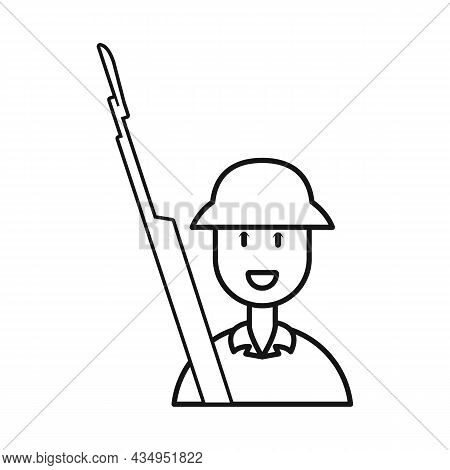 Vector Illustration Of Vietnamese And Soldier Sign. Collection Of Vietnamese And Man Stock Symbol Fo
