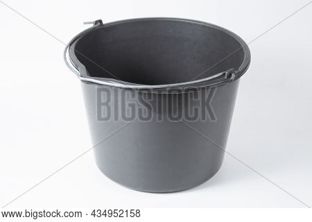 The Bucket Is Plastic On A White Background.household Goods.