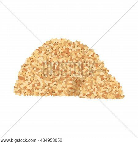 Isolated Object Of Heap And Sugar Symbol. Web Element Of Heap And Cane Stock Vector Illustration.