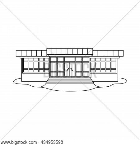 Vector Illustration Of Store And Market Sign. Set Of Store And Mini Stock Symbol For Web.
