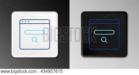 Line Search Engine Icon Isolated On Grey Background. Colorful Outline Concept. Vector