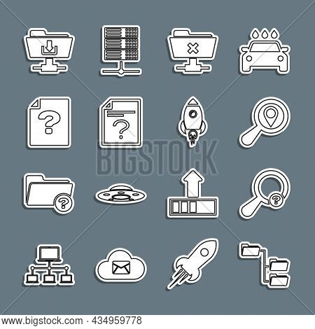 Set Line Folder Tree, Unknown Search, Search Location, Ftp Cancel Operation, Document, Folder Downlo